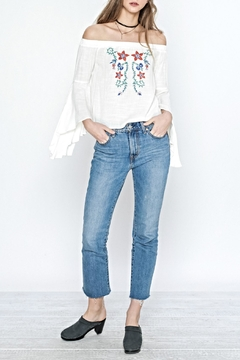 Flying Tomato Flower Embroidered Top - Alternate List Image