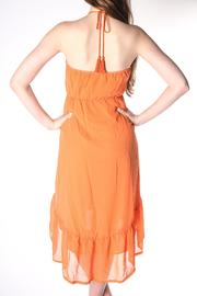 Flying Tomato Flowy Orange Dress - Front full body