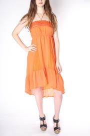 Flying Tomato Flowy Orange Dress - Front cropped