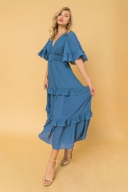 Flying Tomato Flutter Sleeve Dress - Front cropped