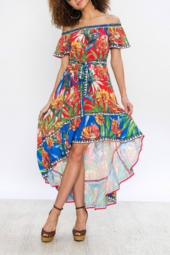 Shoptiques Product: Hi-Low Print Dress