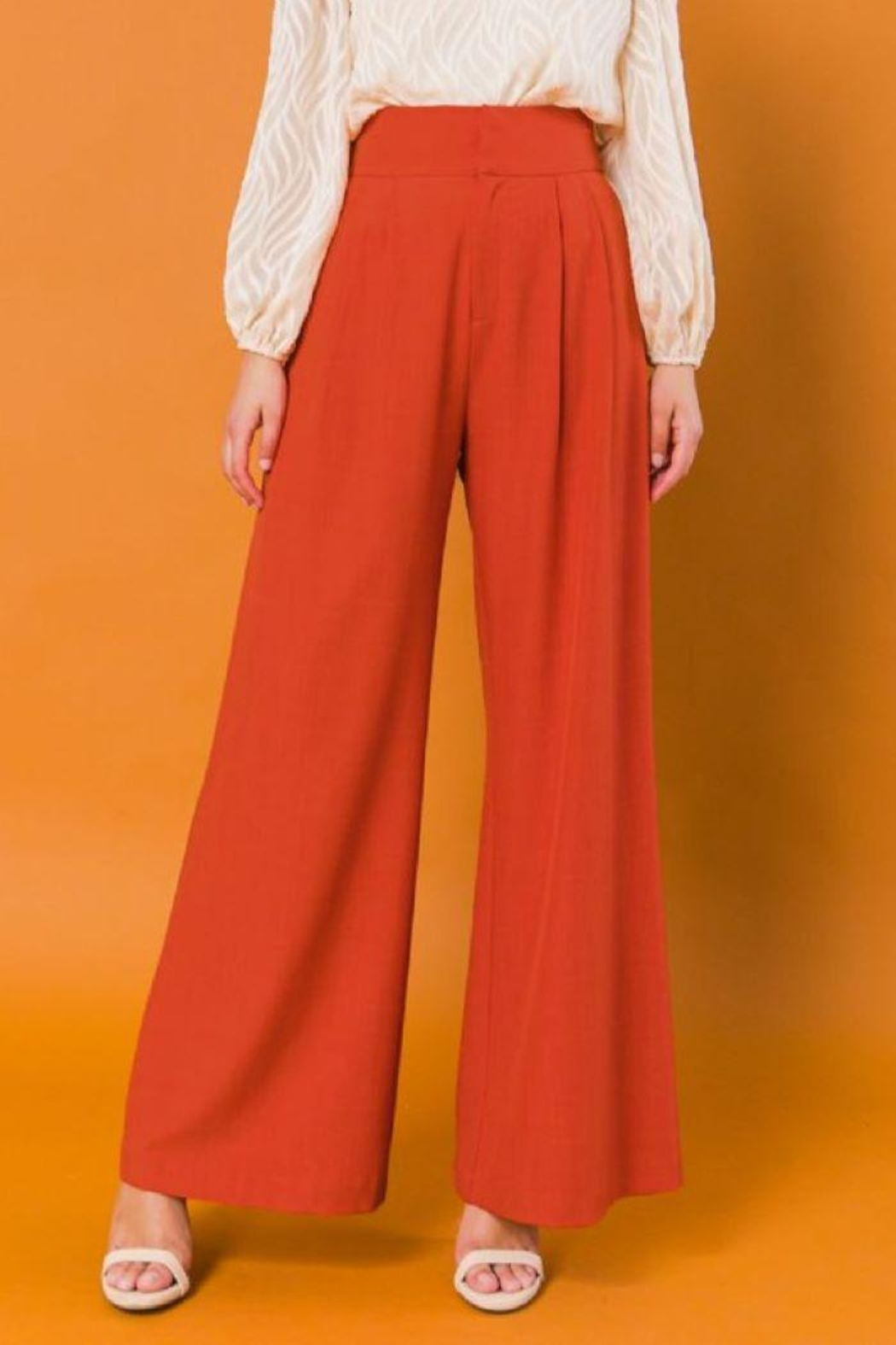 Flying Tomato High Waist Wide Leg Woven Pants - Side Cropped Image