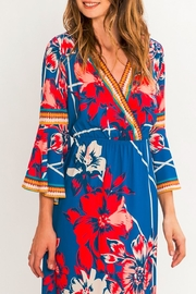 Flying Tomato Isabella Flower Maxi Dress - Front cropped