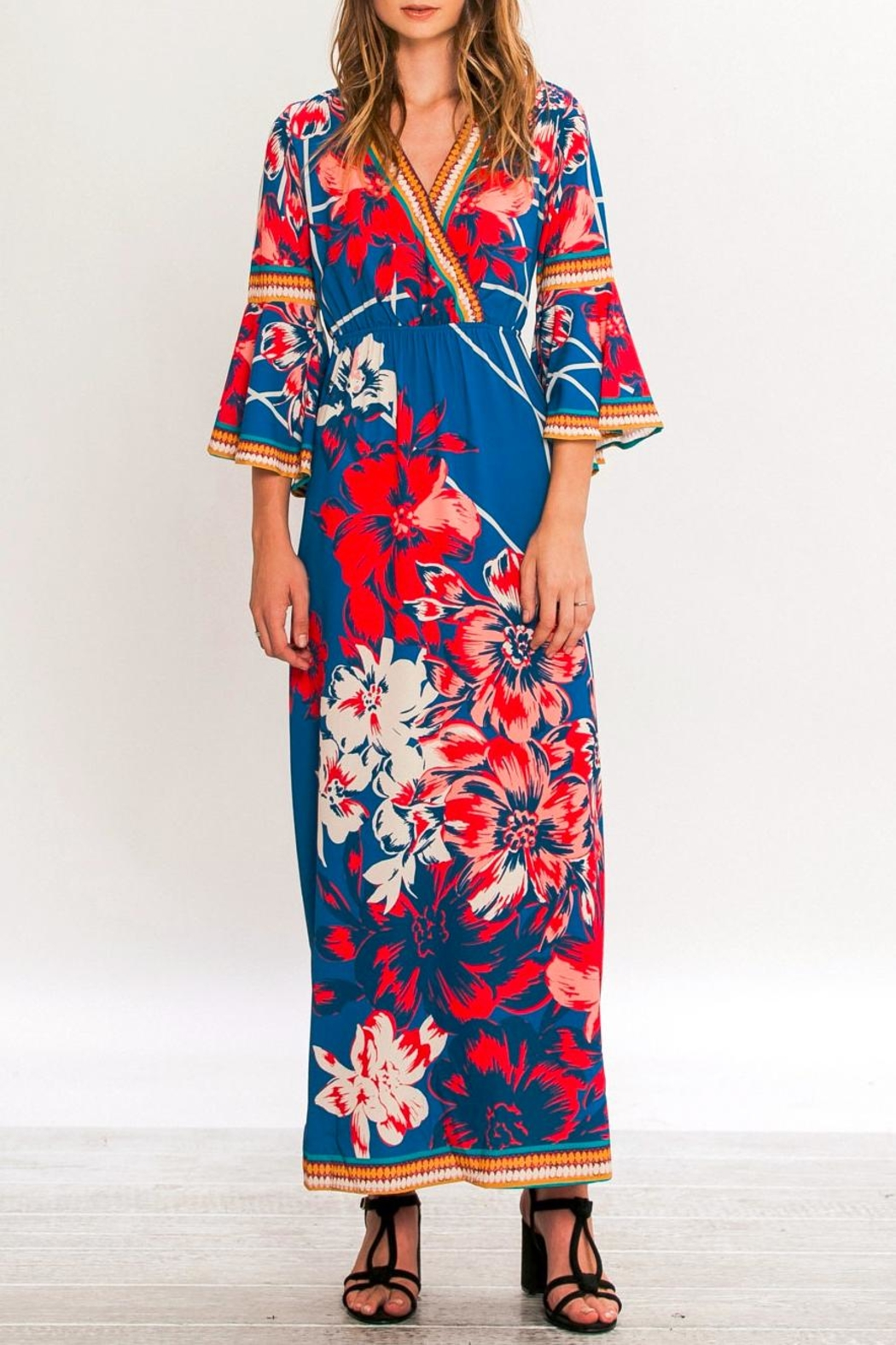 Flying Tomato Isabella Flower Maxi Dress - Front Full Image