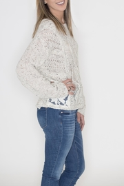 Flying Tomato Lace Panel Sweater - Front full body