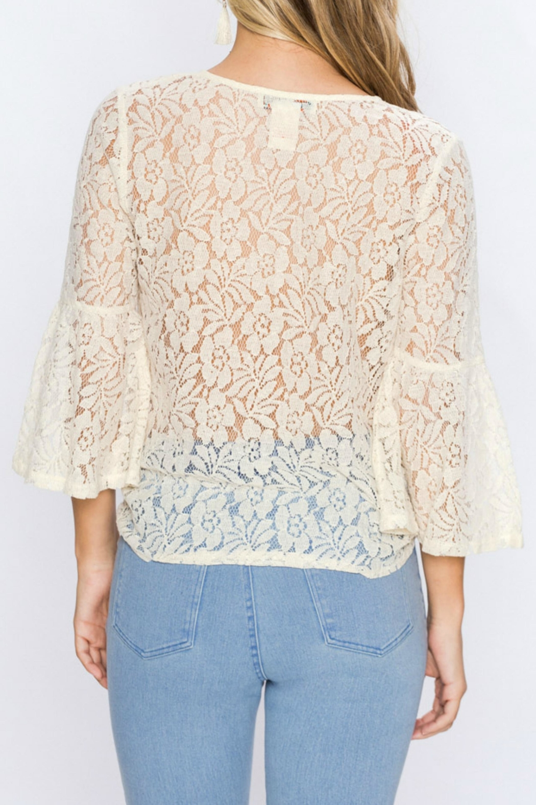 Flying Tomato Lacey Embroidered Top - Front Full Image