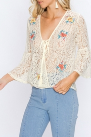 Flying Tomato Lacey Embroidered Top - Side cropped