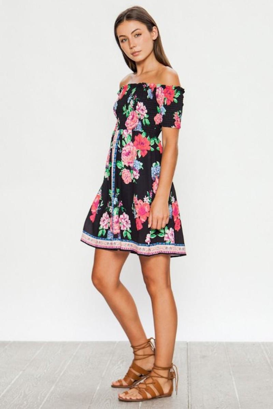 Flying Tomato Lily's Floral Summer Dress - Front Full Image