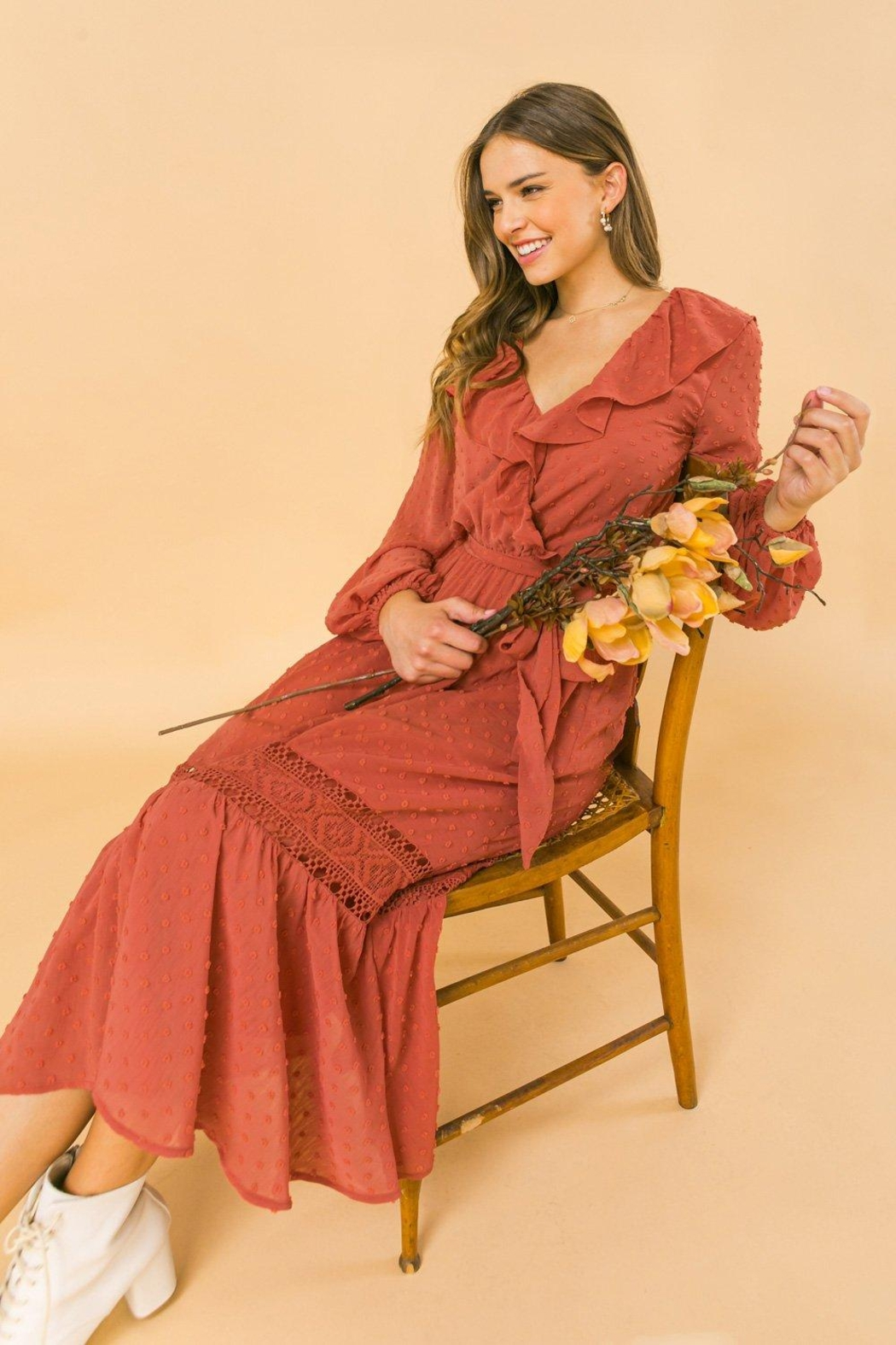 Flying Tomato Lovely And Romantic Dress - Side Cropped Image