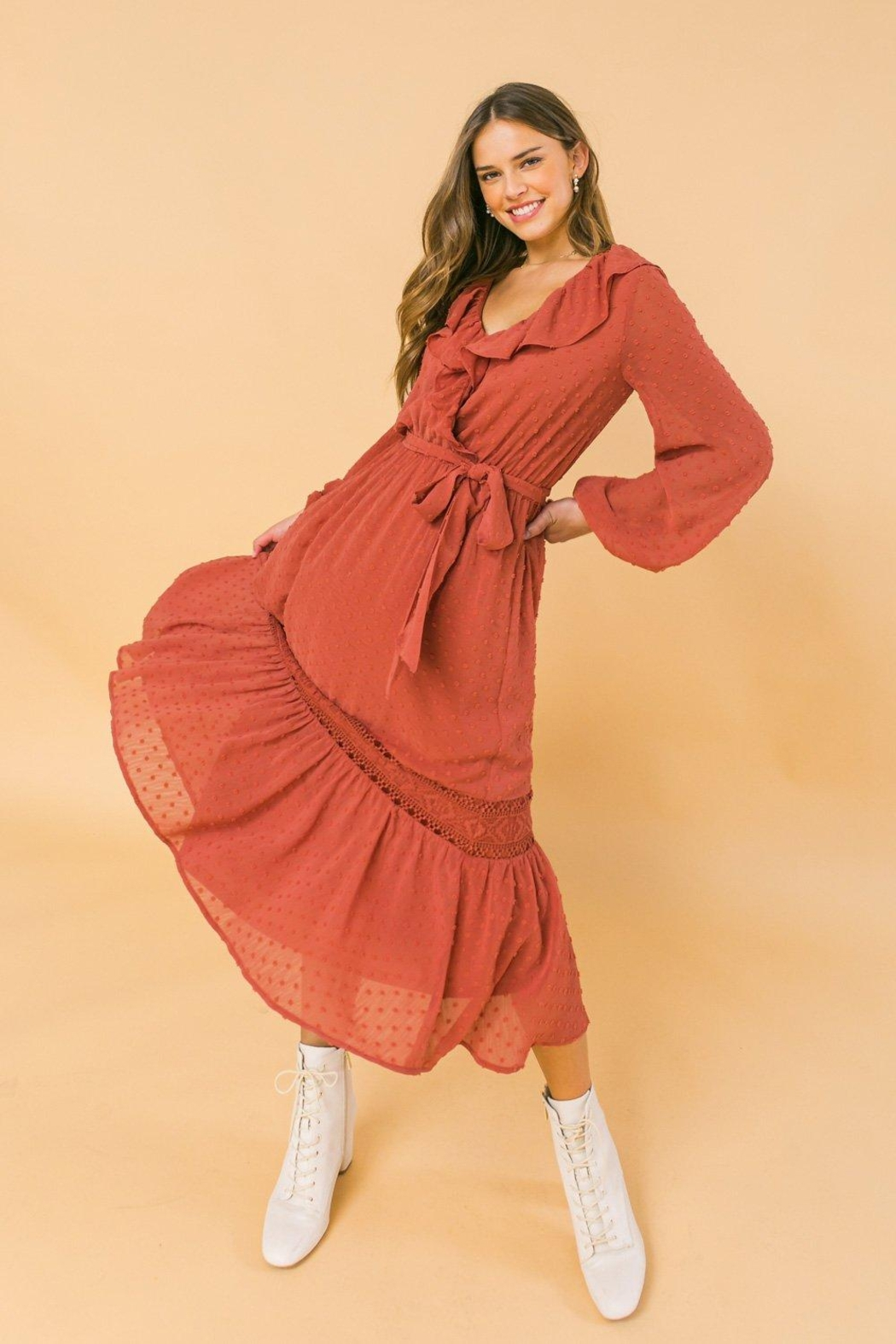 Flying Tomato Lovely And Romantic Dress - Front Full Image