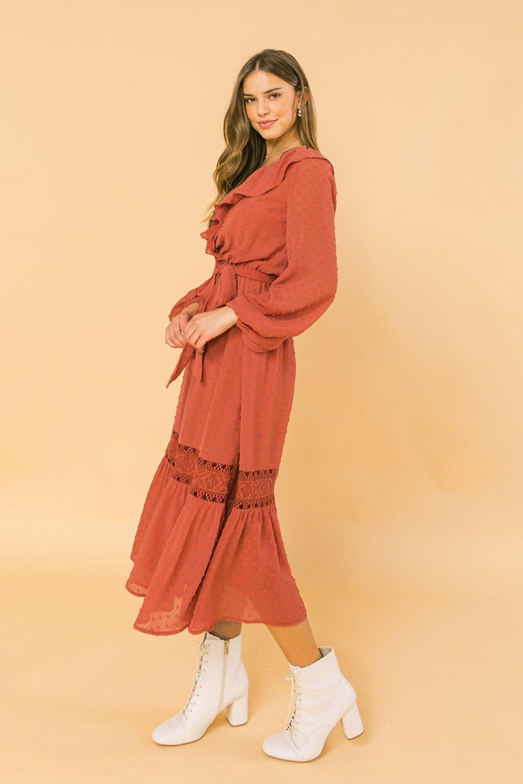 Flying Tomato Lovely And Romantic Dress - Back Cropped Image