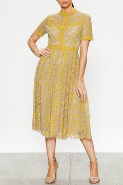 Shoptiques Product: Mustard Crochet Dress