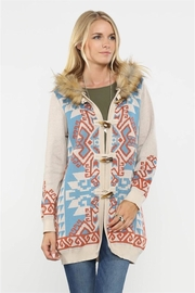 Flying Tomato Navajo Hooded Knit Coat - Product Mini Image