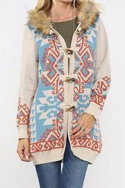 Flying Tomato Navajo Knit Coat - Product Mini Image