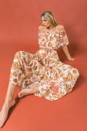 Flying Tomato Off-Shoulder Floral Maxi - Front full body