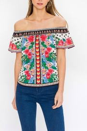 Flying Tomato Off-The-Shoulder Blouse - Product Mini Image