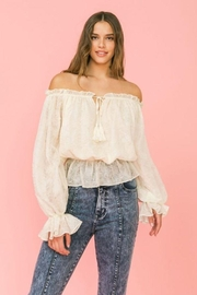 Flying Tomato Ot Lovecolette Textured Woven Top - Side cropped