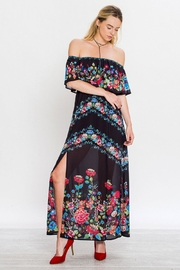 Flying Tomato Peaceful In Black Dress - Back cropped