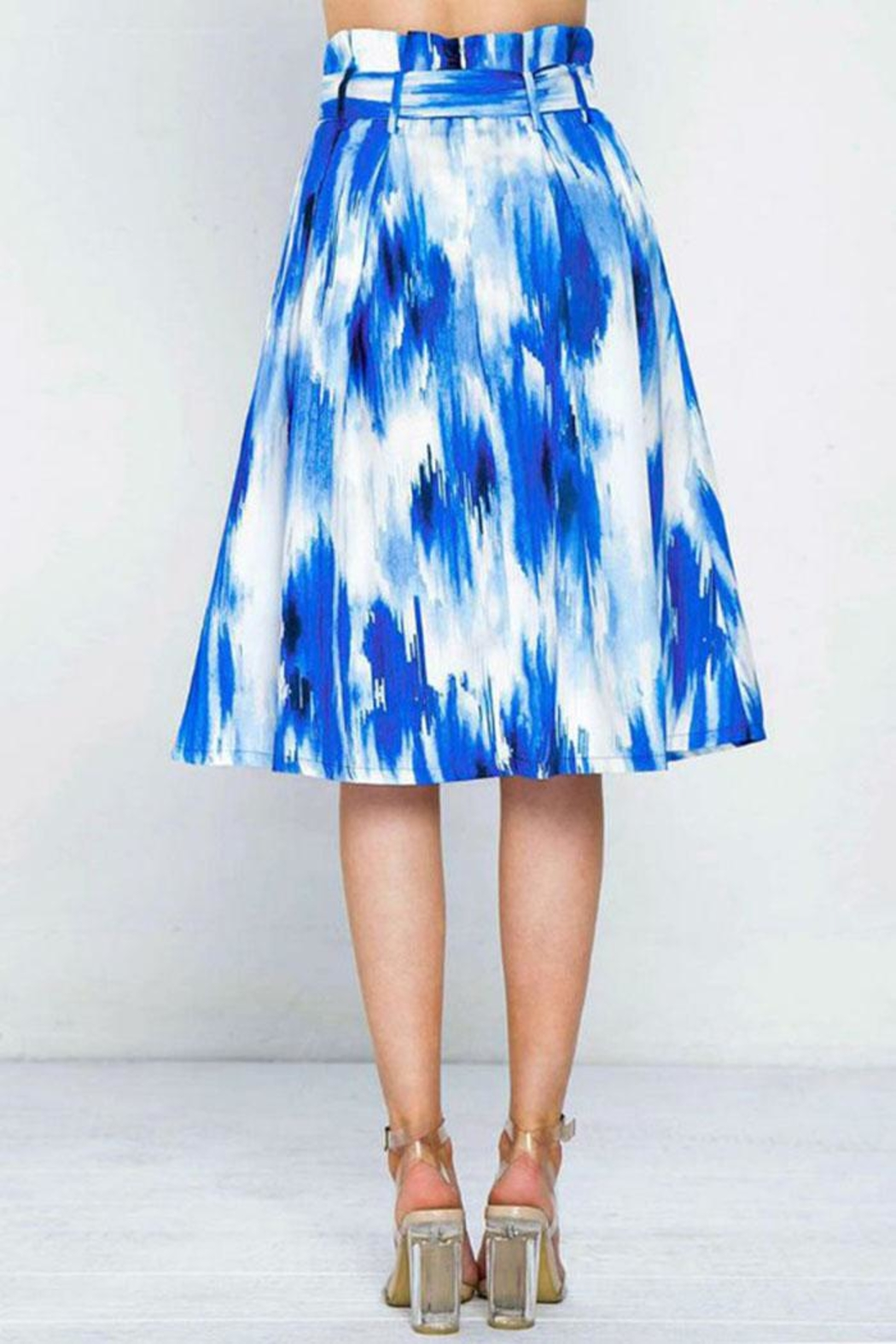 Flying Tomato Pleated Printed Skirt - Side Cropped Image