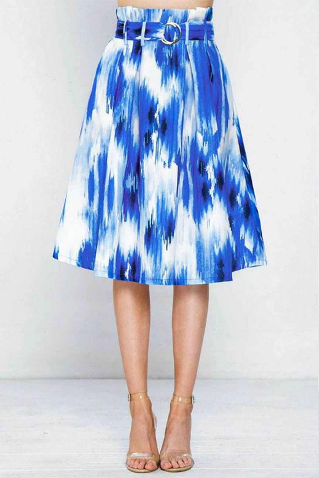 Flying Tomato Pleated Printed Skirt - Front Full Image