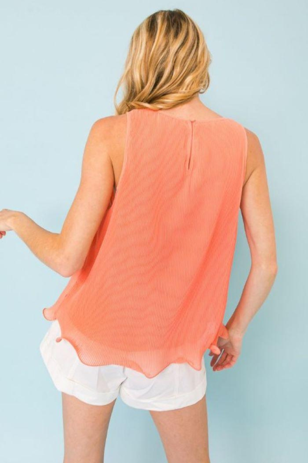 Flying Tomato Pleated Sleeveless Top - Side Cropped Image