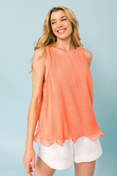 Shoptiques Product: Pleated Sleeveless Top