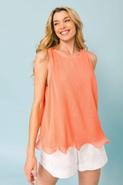 Flying Tomato Pleated Sleeveless Top - Product Mini Image