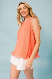 Flying Tomato Pleated Sleeveless Top - Back cropped