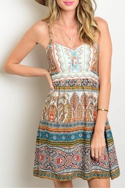 Flying Tomato Print Mixed Dress - Front cropped