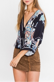 Flying Tomato Print Wrap Blouse - Side cropped