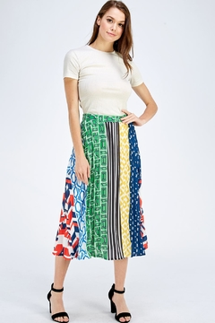 Flying Tomato Printed Midi Skirt - Alternate List Image