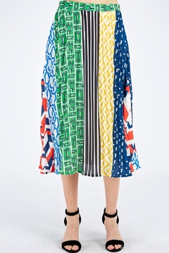 Flying Tomato Printed Midi Skirt - Product List Image
