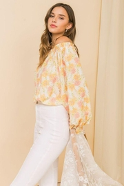 Flying Tomato Printed Off Shoulder Top - Side cropped