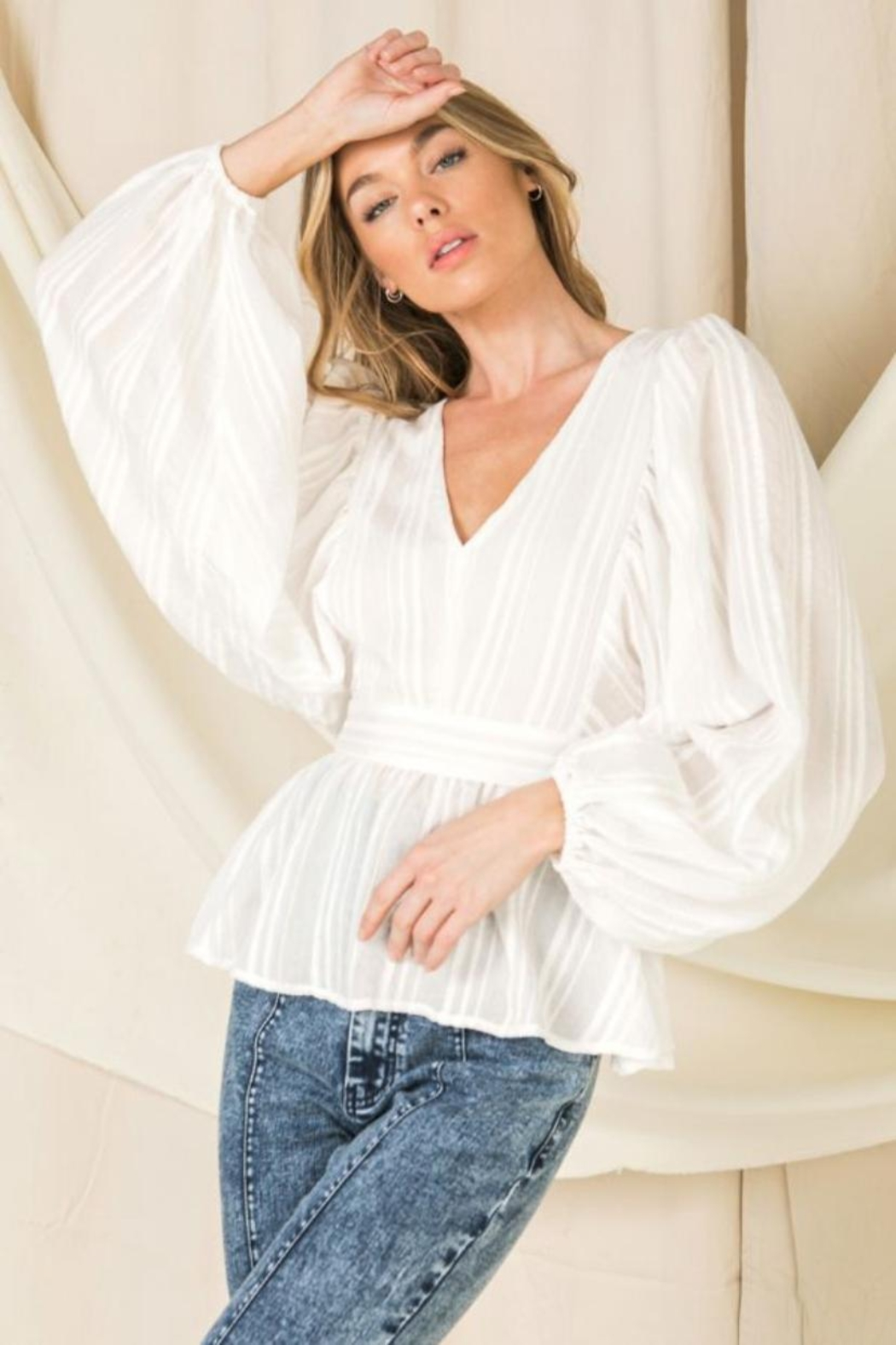 Flying Tomato Puff Sleeve Top - Main Image