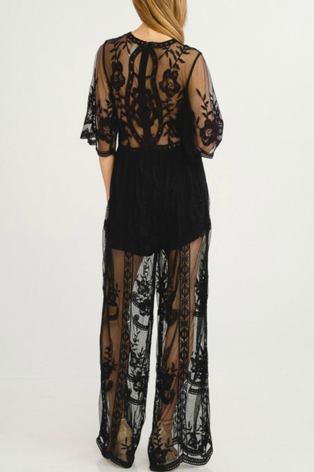Flying Tomato Black Beauty Jumpsuit - Side Cropped Image