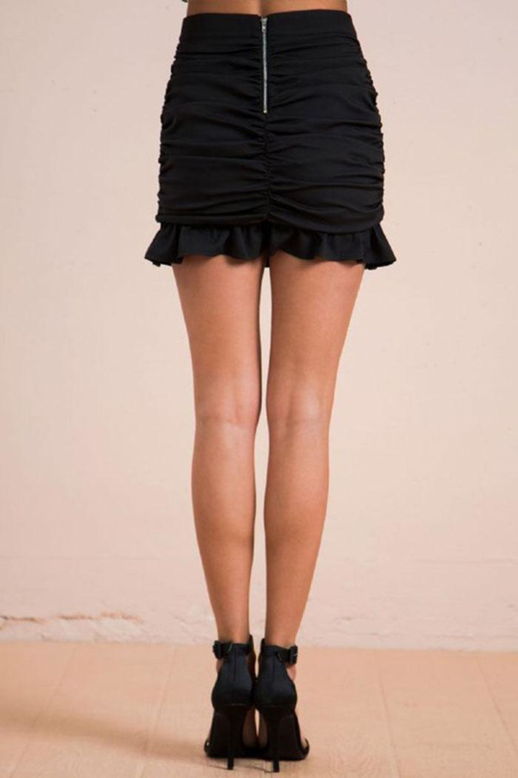 Flying Tomato Ruched Mini Skirt - Side Cropped Image