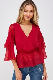 Flying Tomato Ruffle Sleeve Blouse - Product Mini Image