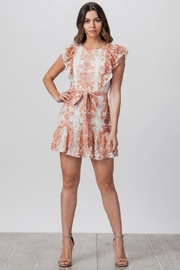 Flying Tomato Ruffle-Sleeve Lace Dress - Product Mini Image