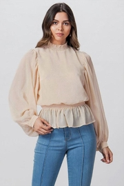 Flying Tomato Sheer High-Neck Blouse - Product Mini Image