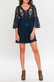 Flying Tomato Shift Lace Mini Dress - Front cropped