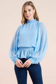 Flying Tomato Smocked Neck Blouse - Product Mini Image