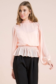 Flying Tomato Smocked Neck Blouse - Front cropped