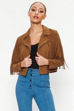 Shoptiques Product: Suede Fringe Jacket