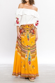 Flying Tomato Tribal Mustard Skirt - Product Mini Image