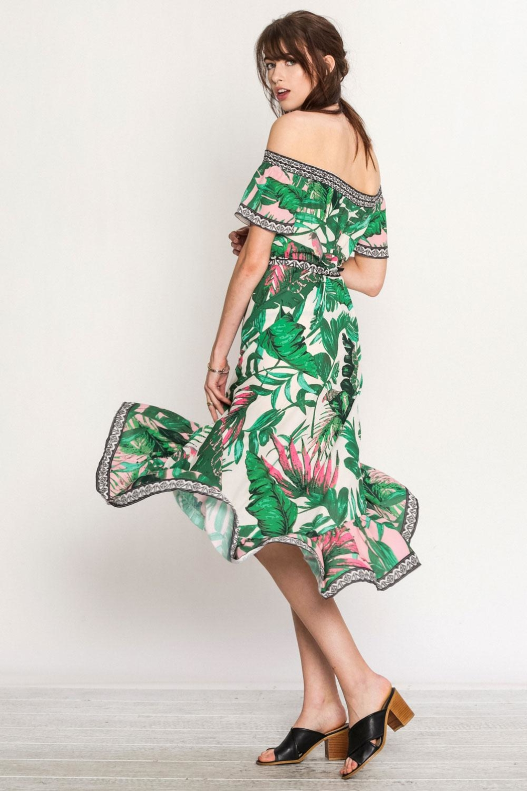 Flying Tomato Tropical Day Dress - Side Cropped Image