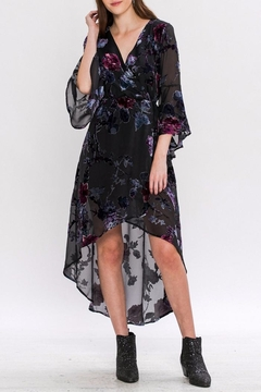 Shoptiques Product: Velvet-Applique Maxi Dress