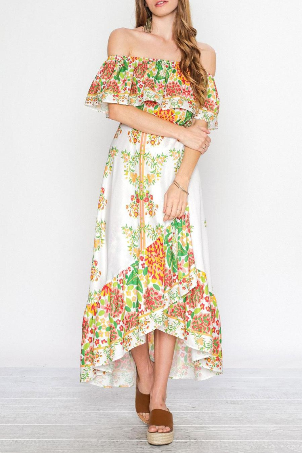 Flying Tomato Viva Las Flores Dress - Main Image