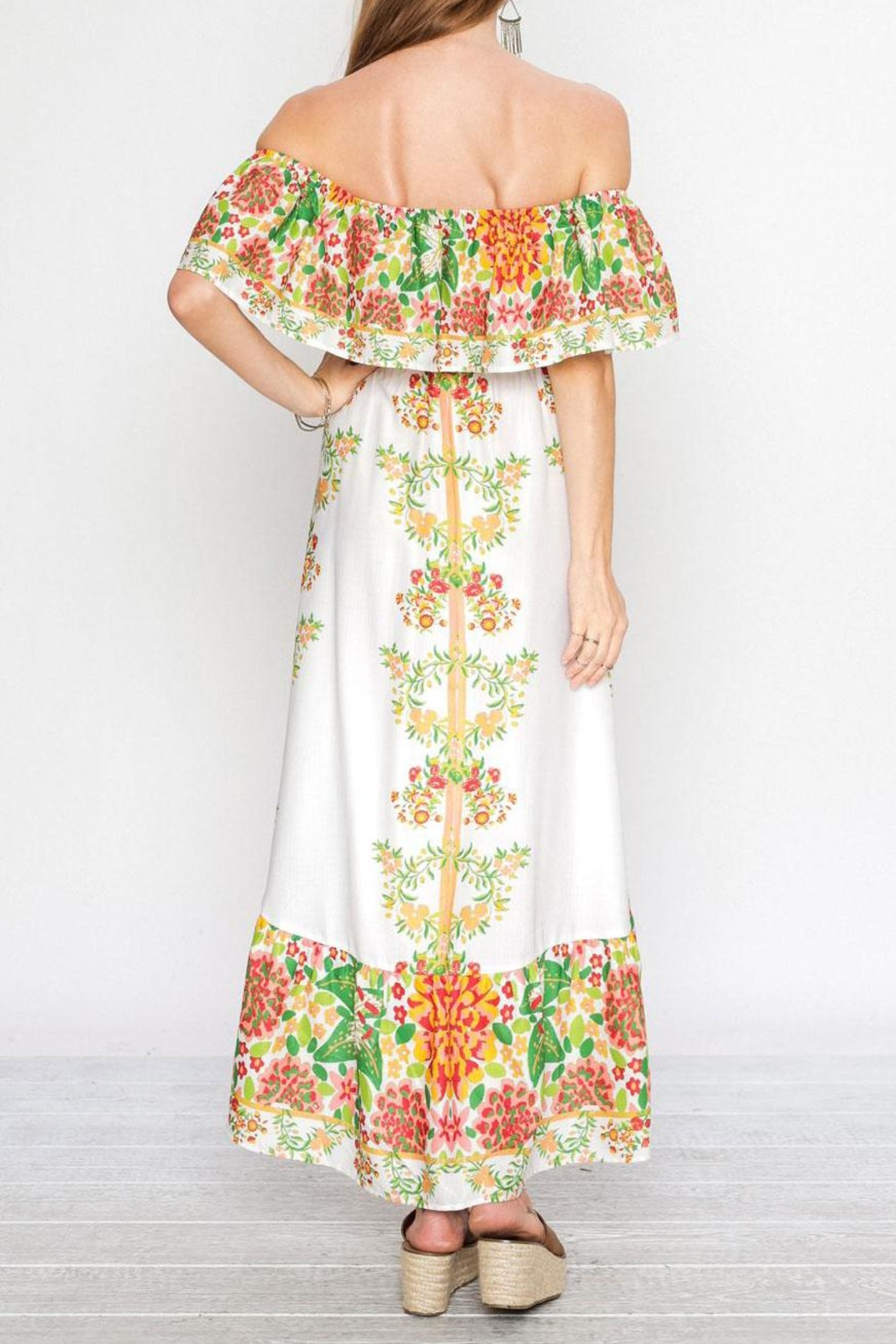 Flying Tomato Viva Las Flores Dress - Front Full Image