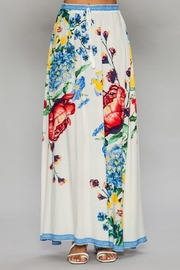 Flying Tomato White Floral Maxi Skirt - Product Mini Image