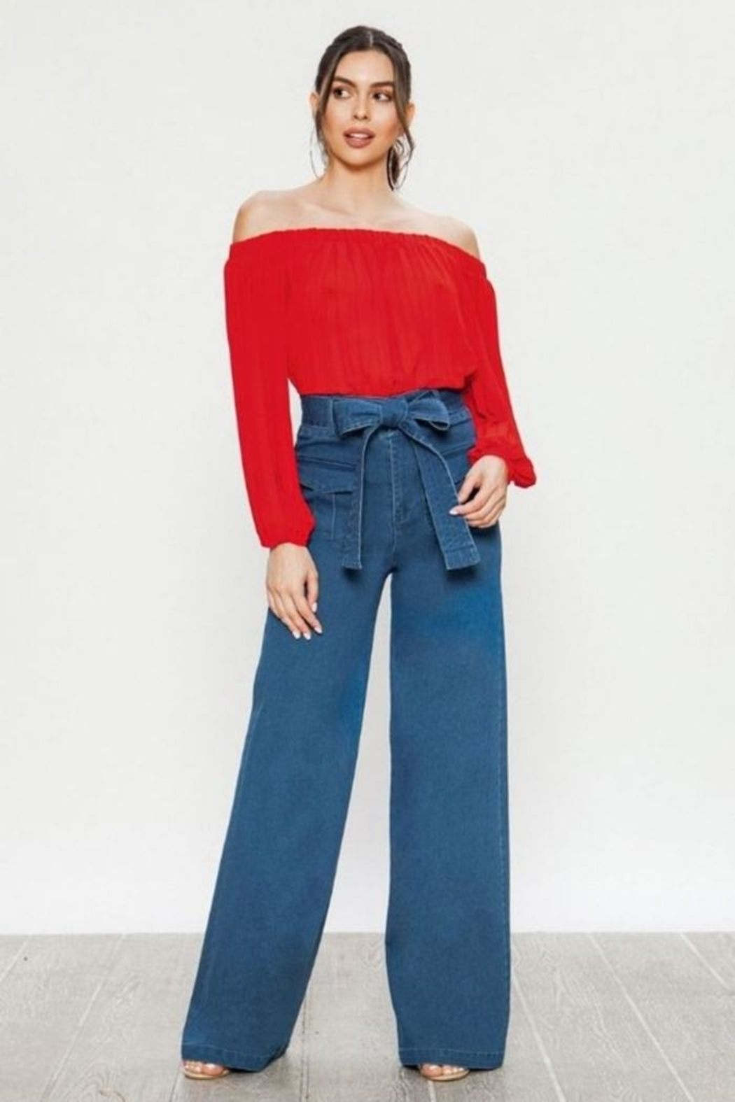 Flying Tomato Wide Leg Jeans - Main Image